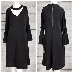 NEW Gabby Skye 8 Sheath Choker Dress Bell sleeve